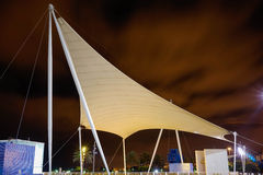 Buss station las palmas. Night long shutter Stock Photos