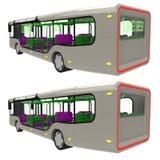 Buss tillbaka Arkivbild
