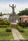 Bussa Emancipation Statue in Barbados royalty free stock images