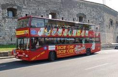 Bussa för turister i Budapest, 20 juni 2011 Royaltyfri Fotografi