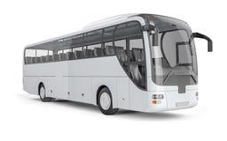 Bussa falskt upp på vit bakgrund, illustrationen 3D Fotografering för Bildbyråer