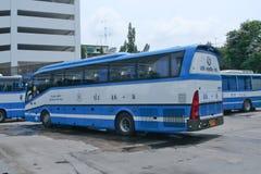 Bussa inget 48-8 av den Rodrungrueng företagsbussen Royaltyfri Bild