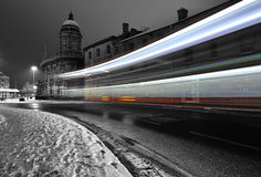Bussa slingan i mörkret Royaltyfri Foto