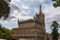 Exterior view of Bussaco Palace Hotel stock photography