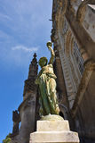 Bussaco Palace, Portugal. Sculpture of a woman Stock Photo