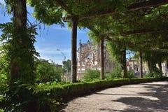 Bussaco slott nära Luso i Portugal Fotografering för Bildbyråer