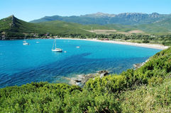 Bussaglia beach, Corsica, France. Plage de Bussaglia beach, Corsica, France Stock Photo