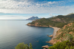 Bussaglia beach on west coast of Corsica Royalty Free Stock Photos