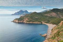 Bussaglia beach on west coast of Corsica Stock Photo