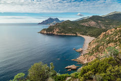 Bussaglia beach on west coast of Corsica Royalty Free Stock Photo