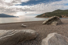 Bussaglia beach on west coast of Corsica Stock Photos