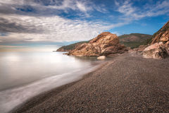 Bussaglia beach on west coast of Corsica Royalty Free Stock Images