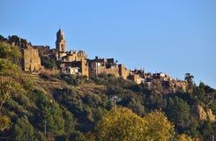 Bussana Vecchia, een land dichtbij Sanremo in de aardbevingen van Italië in 1887 Royalty-vrije Stock Fotografie