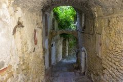 Bussana Vecchia, Włochy obraz royalty free