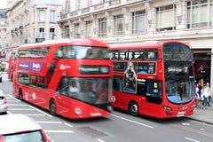 Bussar London för dubbel däckare Royaltyfria Foton