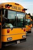 bussar school tre fotografering för bildbyråer