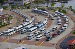 bussar turnerar Arkivfoto