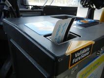 Bussbiljett Arkivbild