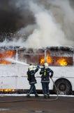 bussbrand Arkivbilder