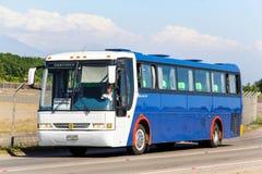 Busscar El Buss 340. SANTIAGO, CHILE - NOVEMBER 24, 2015: Coach bus Busscar El Buss 340 at the interurban freeway Stock Image