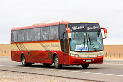 Busscar Vissta Buss LO. ATACAMA, CHILE - NOVEMBER 14, 2015: Intercity coach bus Busscar Vissta Buss LO at the interurban freeway Stock Photo