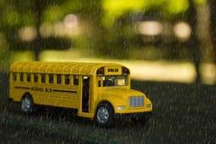 Busschool Royalty-vrije Stock Afbeeldingen