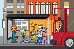 bussdjungelstopp stock illustrationer