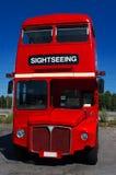 bussdoubledecker Fotografering för Bildbyråer