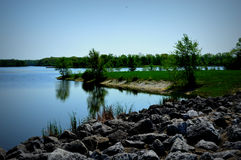 Busse Lake At Ned Brown Preserve In IL. Royalty Free Stock Photos