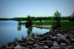 Busse sjö på Ned Brown Preserve i IL Royaltyfria Foton