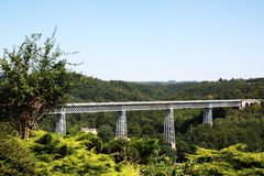 Busseau Rail Viaduct, Limousin, France Royalty Free Stock Photo