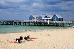 Busselton跳船,澳大利亚西部。 图库摄影