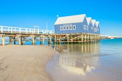 Busselton jetty reflecting stock photo