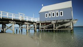 Busselton jetty reflecting stock video footage