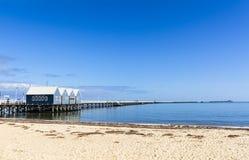 Busselton brygga Australien Arkivfoton