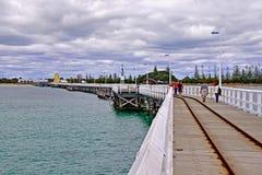 Busselton brygga, Busselton, västra Australien Royaltyfria Bilder