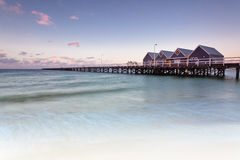 Busselton Jetty. On Geographe Bay in Western Australia is the longest in the Southern Hemisphere royalty free stock photo