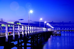 Busselton Jetty. This photo was taken at night in Busselton Jetty Stock Images