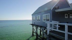 Busselton jetty Australia stock footage