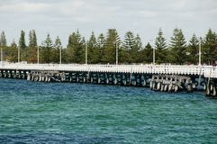 Busselton Jetty. In Western Australia royalty free stock images
