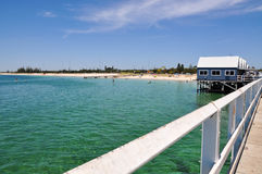 Busselton Jetty Gift Shop and Turquoise Waters Royalty Free Stock Photography