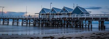 BUSSELTON JETTY I morze POŁUDNIOWA ZACHODNIA zachodnia australia Zdjęcia Royalty Free