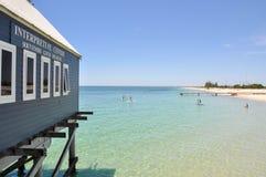 Busselton Jetty Interpretive Centre, oceanu odtwarzanie i Obraz Royalty Free