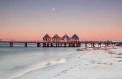 Busselton Jetty. The longest in the southern hemisphere at sunset Royalty Free Stock Image