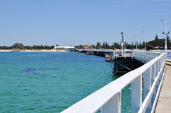 Busselton Jetty: Longest in Southern Hemisphere royalty free stock images