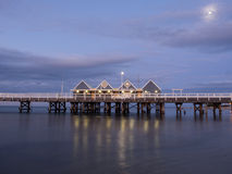 Busselton jetty at night, Western Australia Stock Photos