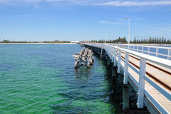 Busselton Jetty with Old Jetty Structure Royalty Free Stock Photo