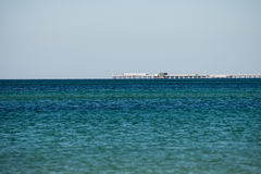 Busselton Jetty remote view from West Busselton Royalty Free Stock Photos