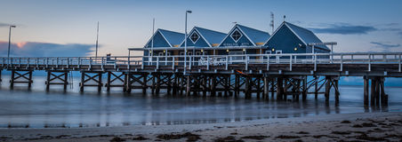 BUSSELTON JETTY AND SEA SOUTH WEST WESTERN AUSTRALIA royalty free stock photos