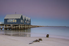 Busselton jetty. Shimmers in the early morning in light in Busselton, Western Australia, Australia royalty free stock images